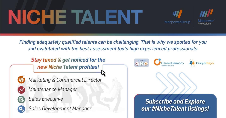 ManpowerGroup Niche Talent Banner